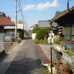 昭和の香りのする路地